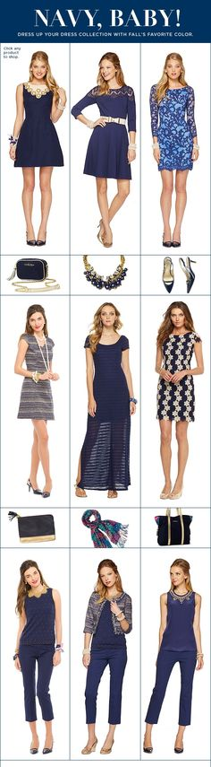 Lilly Pulitzer Fall '13- Navy Styles