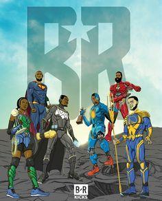 Justice League basketball edit