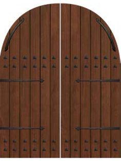 Plank Round Top Cherry, Alder & Walnut Double Door with Iron Straps & Clavos • 8´ 0˝