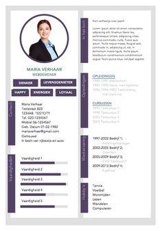 Mooi professioneel CV sjabloon