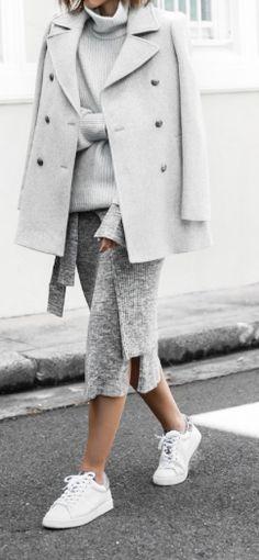 ribbed grey knit