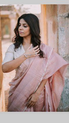 Khadi Saree, Georgette Sarees, Saree Jacket Designs, Casual Saree, Formal Saree, Saree Jackets, Simple Sarees, Indian Attire, Indian Wear