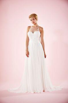 Willa Rose | Chiffon Wedding Dress | Slim A Line Wedding Gown | Charlotte Balbier