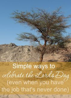 """As moms, we have a job that literally """"never ends"""". That doesn't mean the Lord's Day isn't a time of rest for us too. Here are few simple ways to celebrate Sunday."""