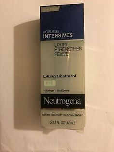 1 NEUTROGENA AGELESS INTENSIVES LIFTING TREATMENT EYE 0.43 OZ LAST ONES  | eBay Beauty Solutions, Skincare Dupes, Nude Makeup, Last One, Summer Skin, Skin Firming, Sun Kissed, Neutrogena, Anti Aging