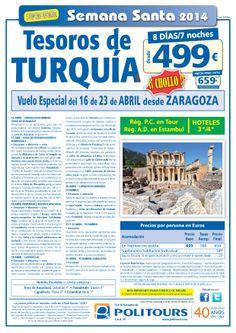 Oferta Especial de Tesoros de Turquía Vuelo Especial del 16 al 23 de ABRIL desde ZARAGOZA