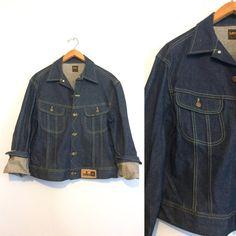 Vintage 80s Lee Jean Jacket / Denim Rider Jacket by HawkandEcho
