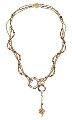 Multi-Strand Necklace with Swarovski Crystal Beads and Components and Seed Beads - Fire Mountain Gems and Beads