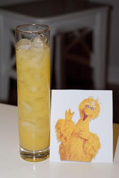 Big Bird     (1oz banana schnapps  2 1/2 oz pineapple juice  2 1/2 oz orange juice)
