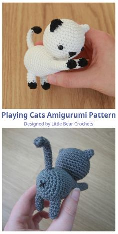 Free Cat Amigurumi Pattern Do you need a quick present for you cat-friend? Or are you more of a cat-person yourself? This pattern is easy and quick to make, so in no time you'll have your own little cat to gift or to add to your crochet family. Crochet Cat Pattern, Crochet Amigurumi Free Patterns, Crochet Animal Patterns, Stuffed Animal Patterns, Easy Crochet Animals, Pattern Sewing, Loom Patterns, Chat Crochet, Crochet Bear