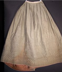 1840s quilted petticoat (Yes, it's a little early for the 1860s, but this is where it fit the best).