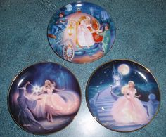 Lot of 3 Cinderella Franklin Mint Collector Plates Mother's Day $0.99 Start Bid!