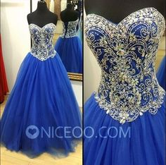 royal blue A line princess Sweetheart Floor Length Tulle prom dresses with Beaded   #promdress #formaldress #eveningdress #prom #dress http://niceoo.com/products/16461822-royal-blue-a-line-princess-sweetheart-floor-length-tulle-prom-dresses-with-b