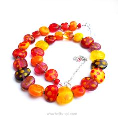 Lampwork beads and sterling silver