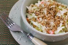 Cabbage, bleu cheese and sunflower salad. This is so up my ally!