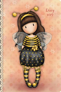 Agenda pocket 2020 - Gorjuss Little Pumpkin - Santoro London Girl Cartoon, Cute Cartoon, Painting For Kids, Painting & Drawing, Illustrations, Illustration Art, Painted Rocks, Hand Painted, Santoro London