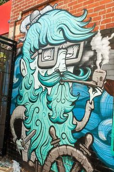 Awesome piece by Australian artist The Yok #theyok #streetart #art #graffiti…