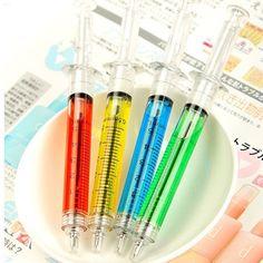 Хороший 2 Шт. Доктор Медсестра Подарок Жидкости Шприц Для Инъекций Шариковая Ручка Шариковая Ручка CN