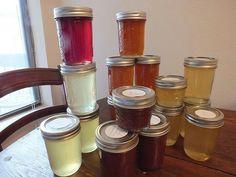 Vanilla Bean Plum Cardamom Jelly , Lemon Jelly, Choclate Orange Jelly, Brown Sugar Bourbon Grapefruit Jelly, Orange Jelly