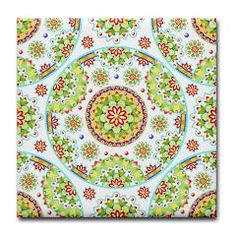 Kristofer's Mandala Tile Coaster  by Patricia Shea Designs - for the month of April 10% of retail price goes to #AutismAwareness charities through #CafePress