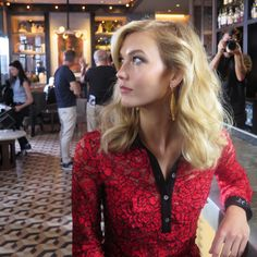 A pause between takes with Karlie Kloss on the set of #DVFSecretAgent. Watch the film and shop the collection: http://on.dvf.com/1NAn7dL
