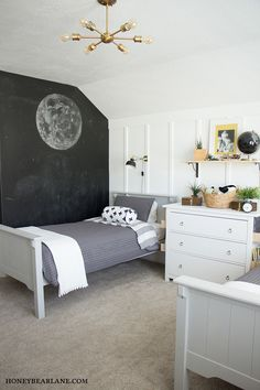 I recently did an industrial farmhouse boys room makeover with some Star Wars accents. I massively changed this room and I love the end result!