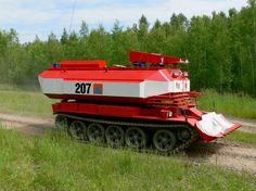 Vojenská technika ČSLA a AČR - Fotoalbum - Tanky - Speciální požární tank T-55 SPOT