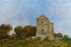 Deauville, Ruins of the Chateau de Lassay - Eugene Boudin