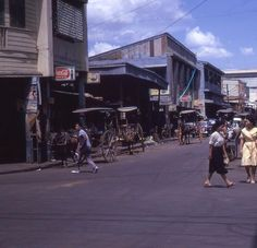 Manila Street Scene. 1960