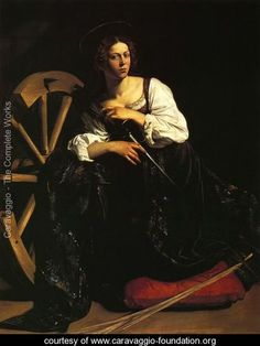 St Catherine of Alexandria c. 1598 - Caravaggio