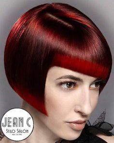 A la vanguardia en cortes en cabello corto y colores de moda.  @jeancstilo