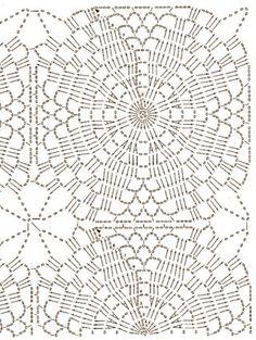 Beautiful Crochet Patterns And Knitting - Diy Crafts - DIY & Crafts Crochet Tablecloth Pattern, Crochet Doily Diagram, Crochet Motif Patterns, Crochet Squares, Craft Patterns, Crochet Doilies, Knitting Patterns, Diy Crafts Crochet, Beautiful Crochet