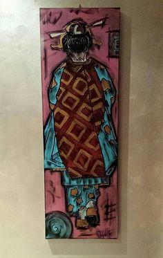 GEISHA - 40x120 cm. - 2015 - Acrilc on canvas