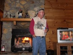 My husband doing what he truly loves having a cold beer...in the mountains Oct. 2012
