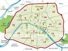 Paris Map | Neighborhoods, Districts, Arrondissements