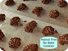 Home Maid Simple: Peanut Free No-Bake Cookies {Foodie Friday} Food Processor Uses, Food Processor Recipes, Peanut Free Snacks, Tree Nut Allergy, Peanut Allergy, Snack Recipes, Dessert Recipes, Free Recipes, Healthy Recipes