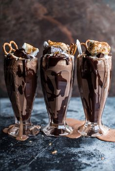Nutella Fudge Milkshakes