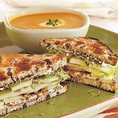 Pear-Walnut Sandwiches | MyRecipes.com