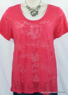 cbed44e05555f Torrid Plus Size 3 Knit Top Burnout Short Sleeve Pink 3X Dakota