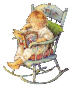 little girl in rocking chair reading Reading Art, Girl Reading, Children Reading, I Love Books, Good Books, My Books, Precious Moments, Sarah Kay, Spanish Artists