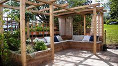 Pergola De Madera Quincho - Steel Pergola Attached To House - - Petite Pergola, Small Pergola, Deck With Pergola, Pergola Patio, Pergola Kits, Backyard, Pergola Swing, Gazebo, Wisteria Pergola