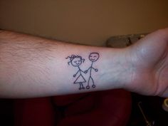 Stick Boy And Girl Tattoo by on DeviantArt Tattoos Skull, Boy Tattoos, Tattoos For Kids, Funny Tattoos, Couple Tattoos, Tatoos, Stick Figure Tattoo, Tattoo You, Tattoo Quotes