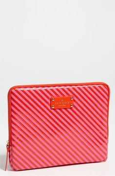 kate spade new york diagonal stripe iPad case available at #Nordstrom