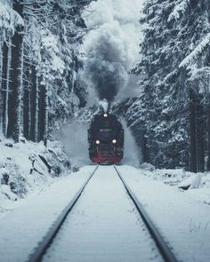 Theres something magical about an old steamtrain and snow.