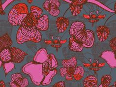 Hand-Drawn Floral Patterns by Clare Martin. See more in this inspiring blog post! Pattern design, textile design, surface pattern design, floral, flowers, illustration, patterns, trends Pattern Designs, Surface Pattern Design, Dip Pen, Floral Patterns, Simple Shapes, Art Studies, Floral Flowers, Painting Techniques, Textile Design