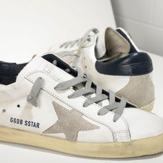 Golden Goose Super Star Sneakers In Leather With Suede Star Women - Golden Goose / GGDB