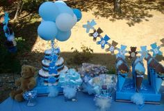 Blue and brown teddy bears Baby Shower Party Ideas | Photo 1 of 26 | Catch My Party
