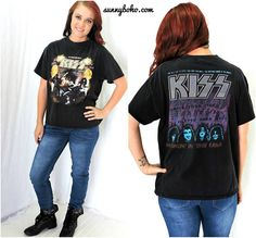 Vintage 70s rare KISS concert T shirt   1970s Kiss Hotter than