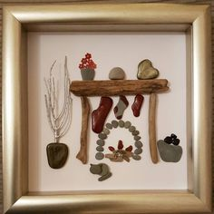 Are you hanging out your stockings on the wall ♩ #merrychristmas #fireplace #ilovechristmas #christmasart #pebbleart #ilovecrafts