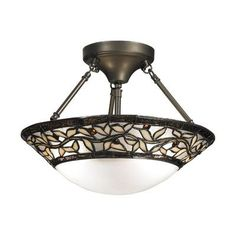 QSPL Cyprus Oaks 2 Light Semi-Flush Mount